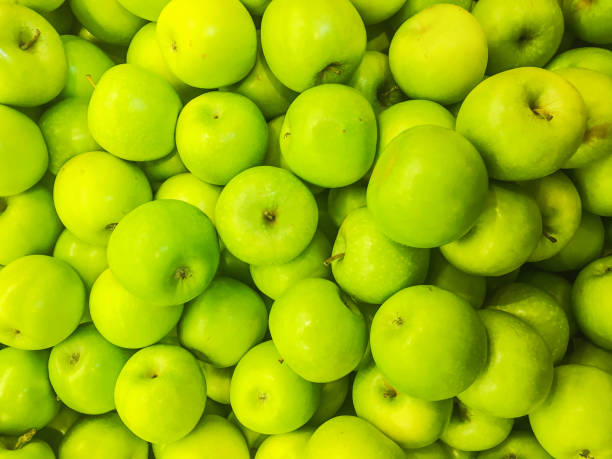 Green apple backgrounds stock photo