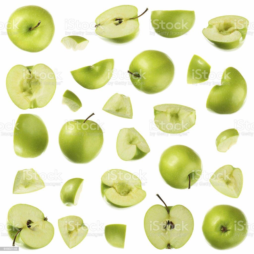 Colección verde manzana Granny Smith tipo - foto de stock