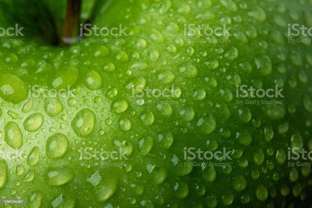 Green Apple Detail stock photo