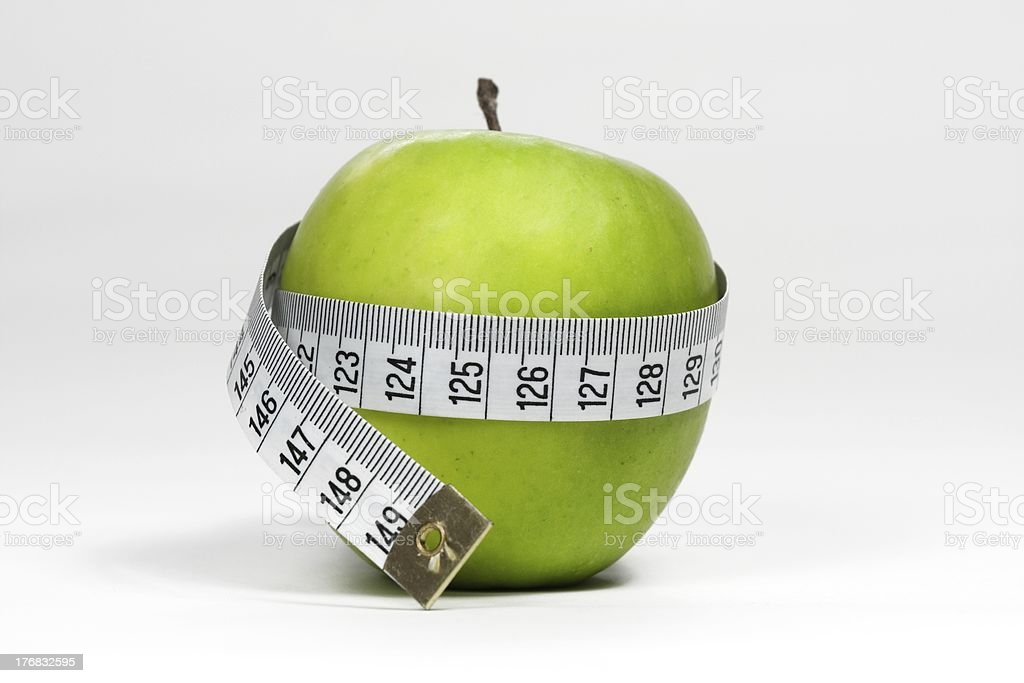 Green Apple, diet concept royalty-free stock photo