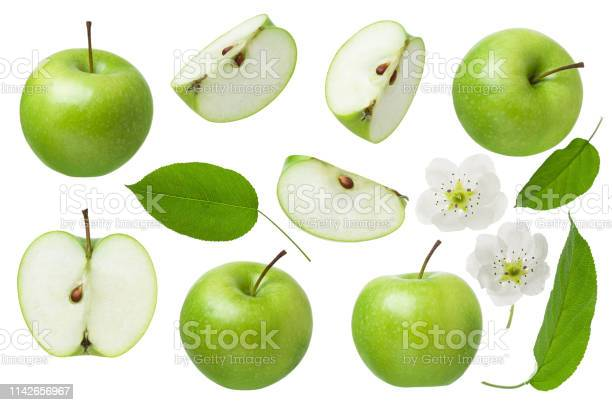 Green apple for design package set of whole apple half and slice with picture id1142656967?b=1&k=6&m=1142656967&s=612x612&h=cfud3 21ucvzusyflis kkzebtqrrqrnntjtigrfso8=