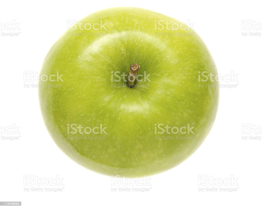 green apple from above stock photo