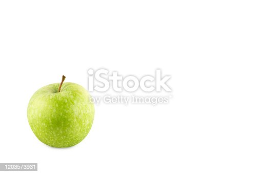 istock green apple fruit on white background fruit agriculture food isolated 1203573931