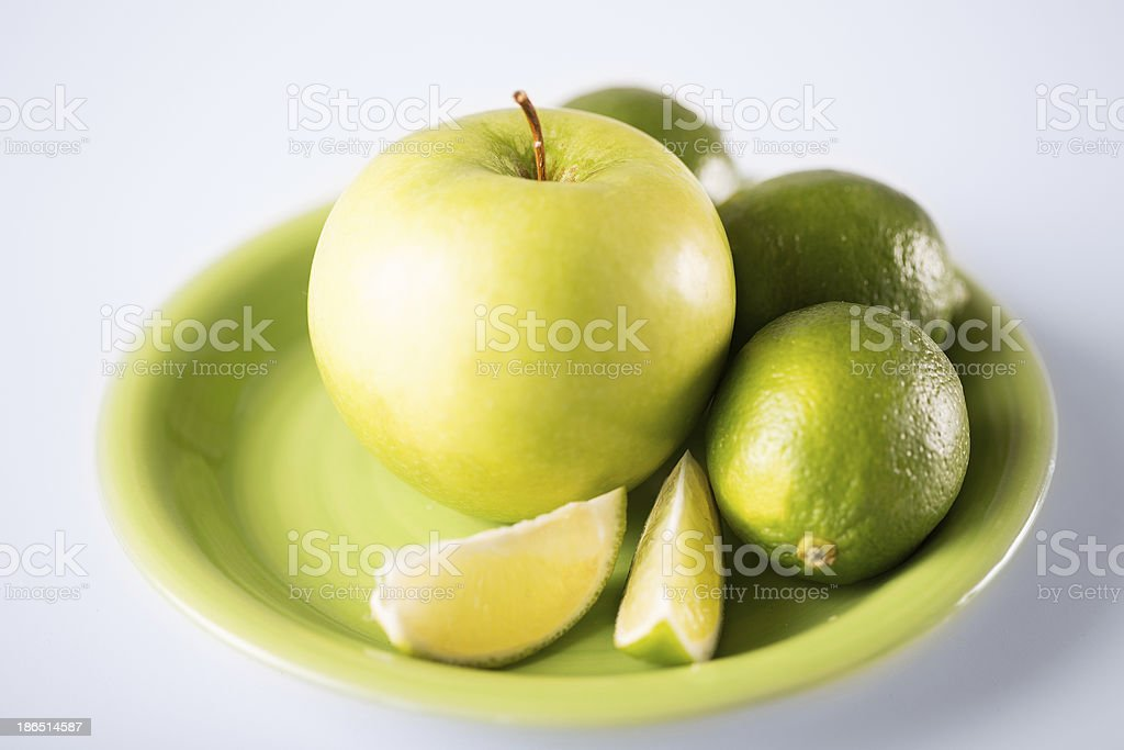 green apple in bowl royalty-free stock photo