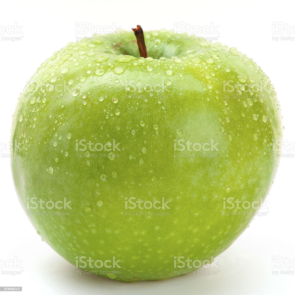 green apple isolated royalty-free stock photo