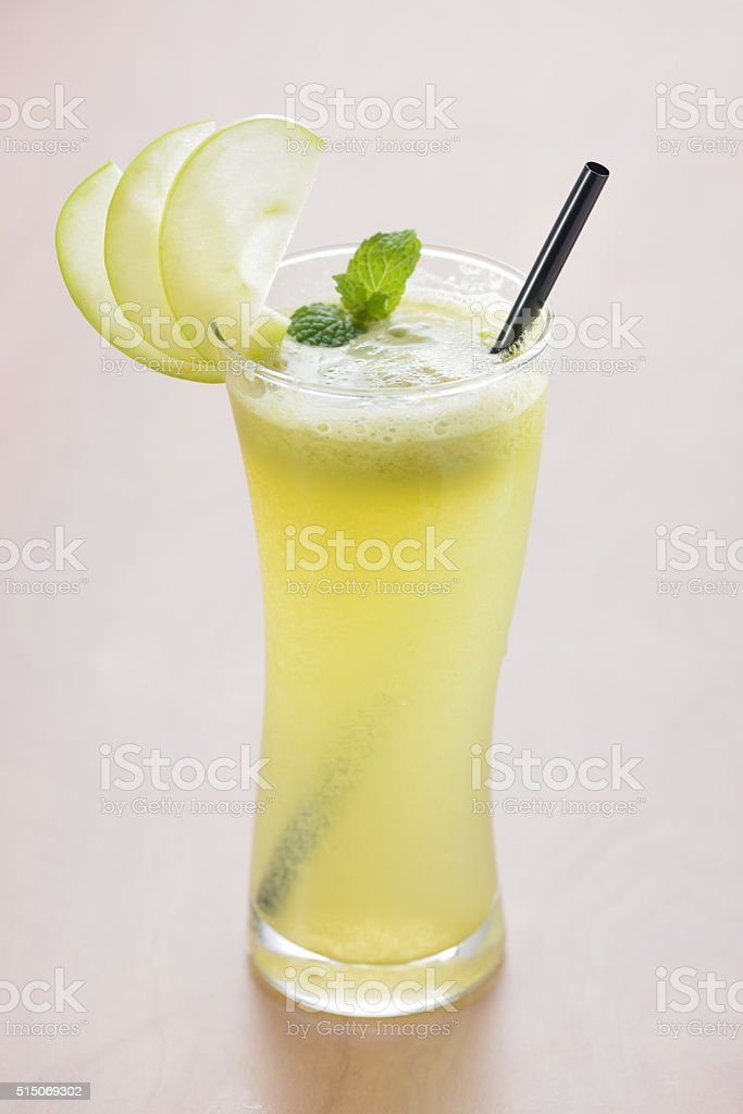 Green apple juice stock photo