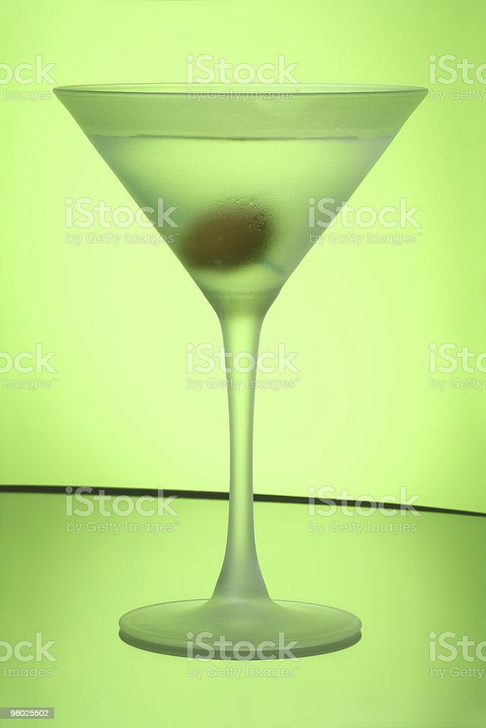 Green Apple Martini royalty-free stock photo