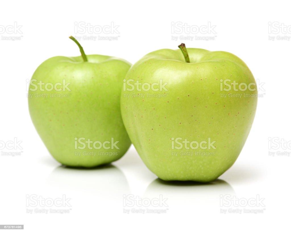 Beyaz zemin üzerine yeşil elma royalty-free stock photo