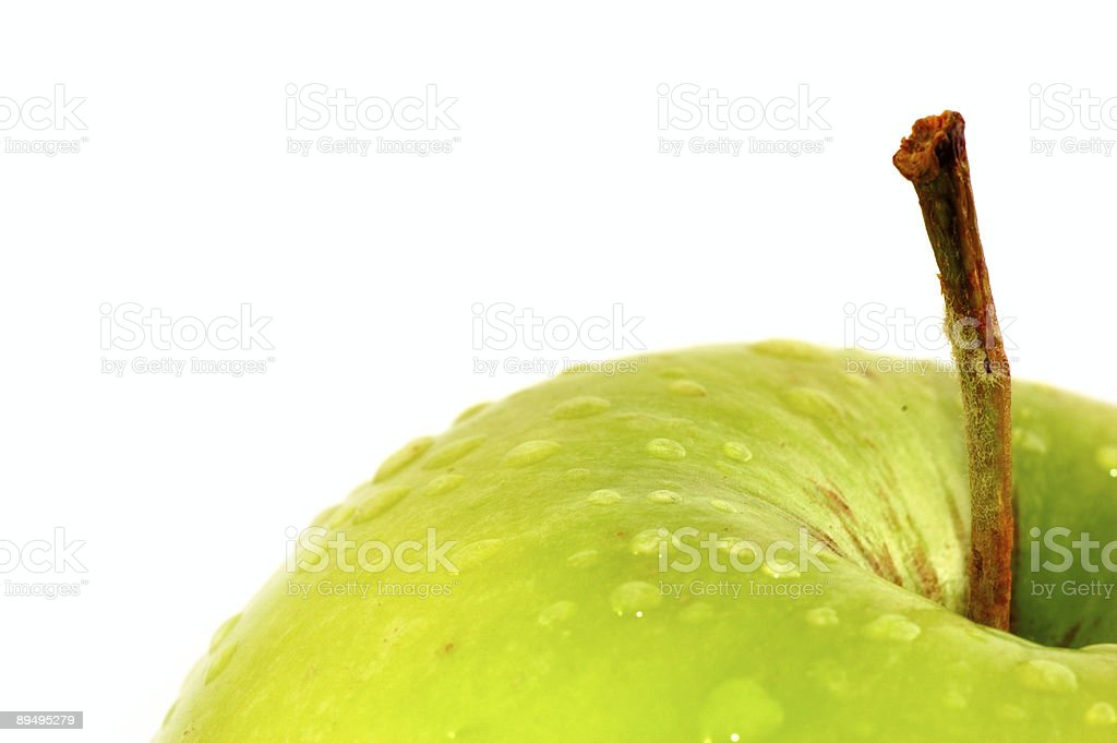 Green Apple on white background royaltyfri bildbanksbilder