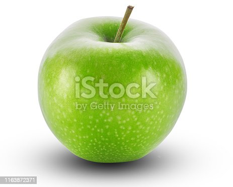 apple fruit, isolated, white background