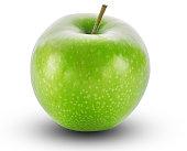 apple fruit, isolated, white background