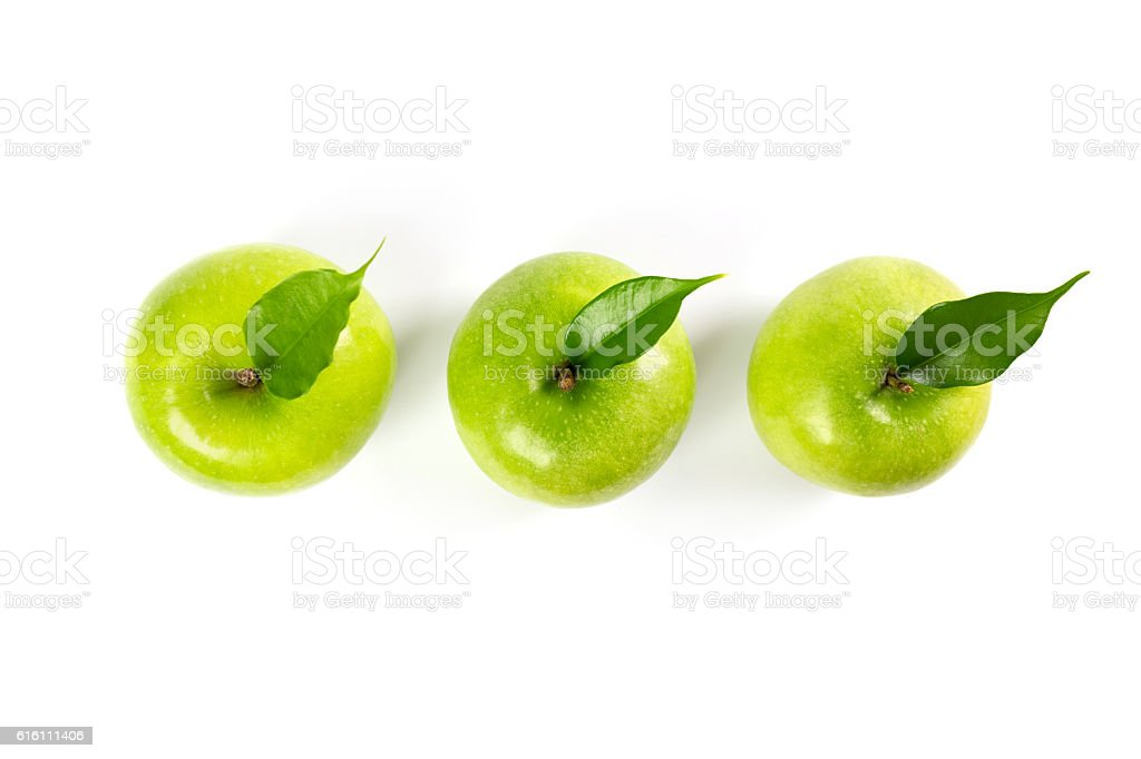 green apple (isolated) stock photo