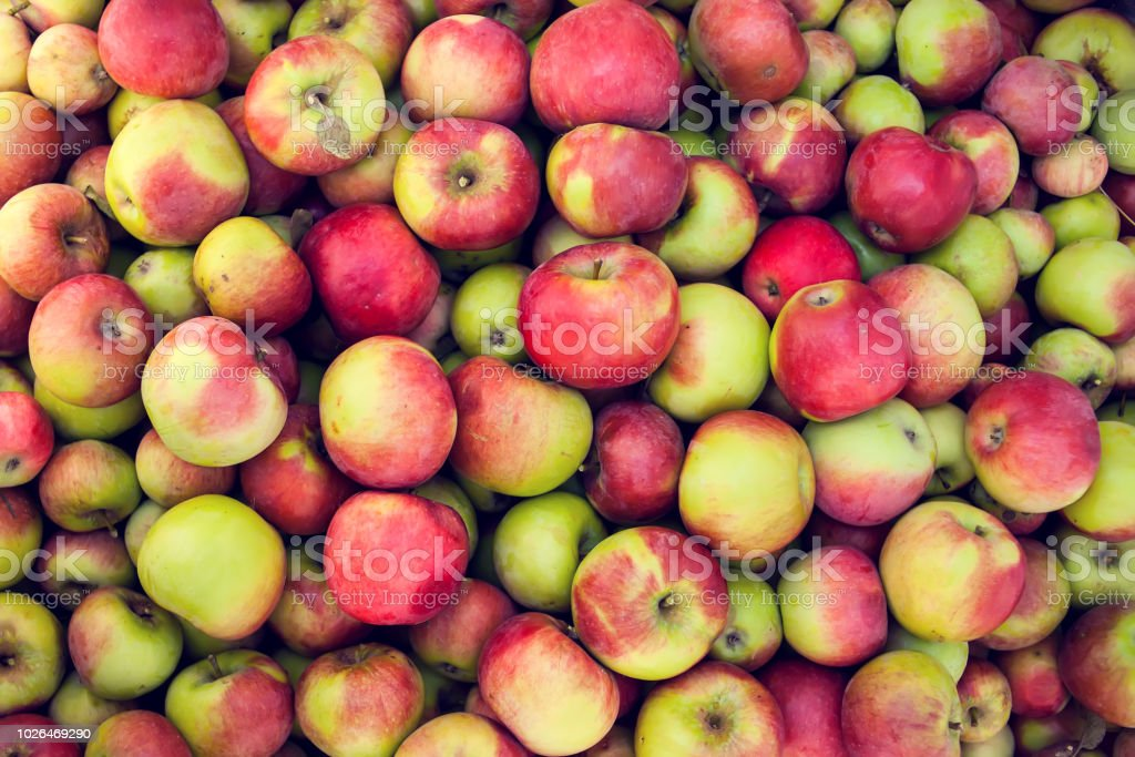 Green apple raw fruit backgrounds, healthy organic fresh product stock photo