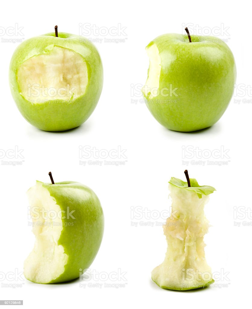 green apple set royalty-free stock photo