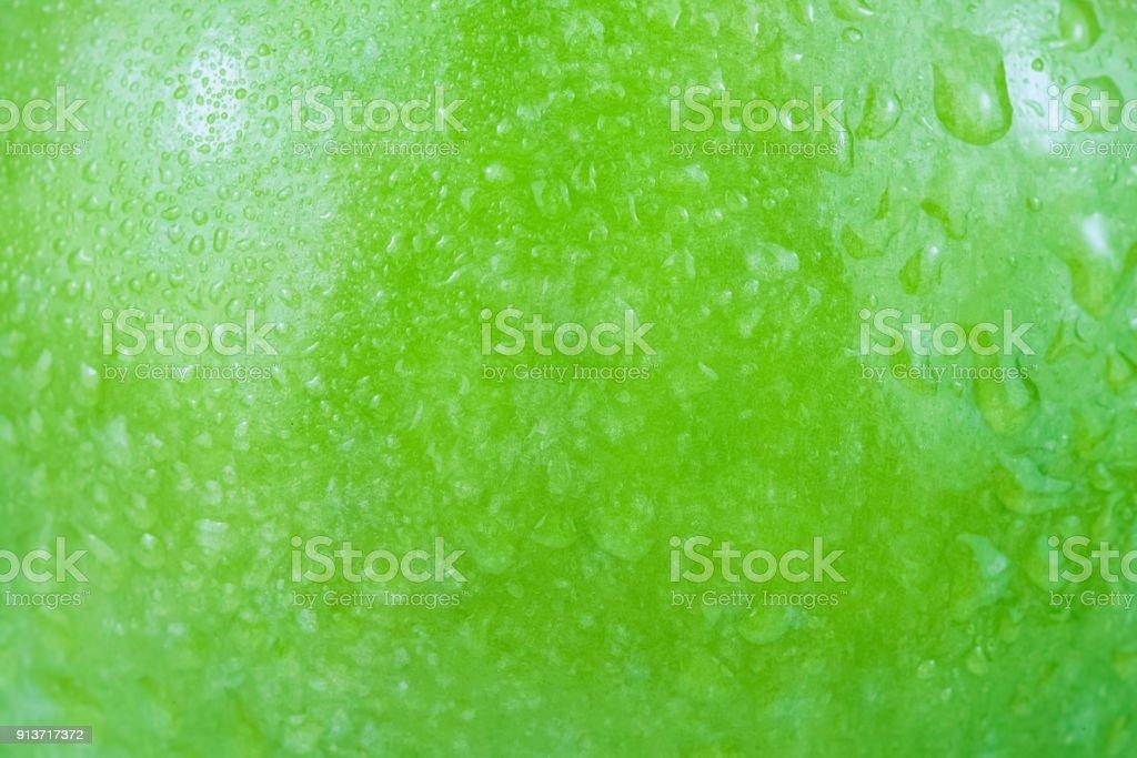 Green apple texture background stock photo