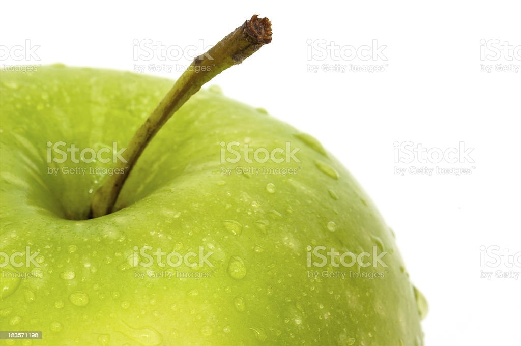 Green Apple wet close up royalty-free stock photo