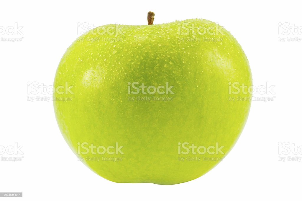 green apple with water drops royalty free stockfoto