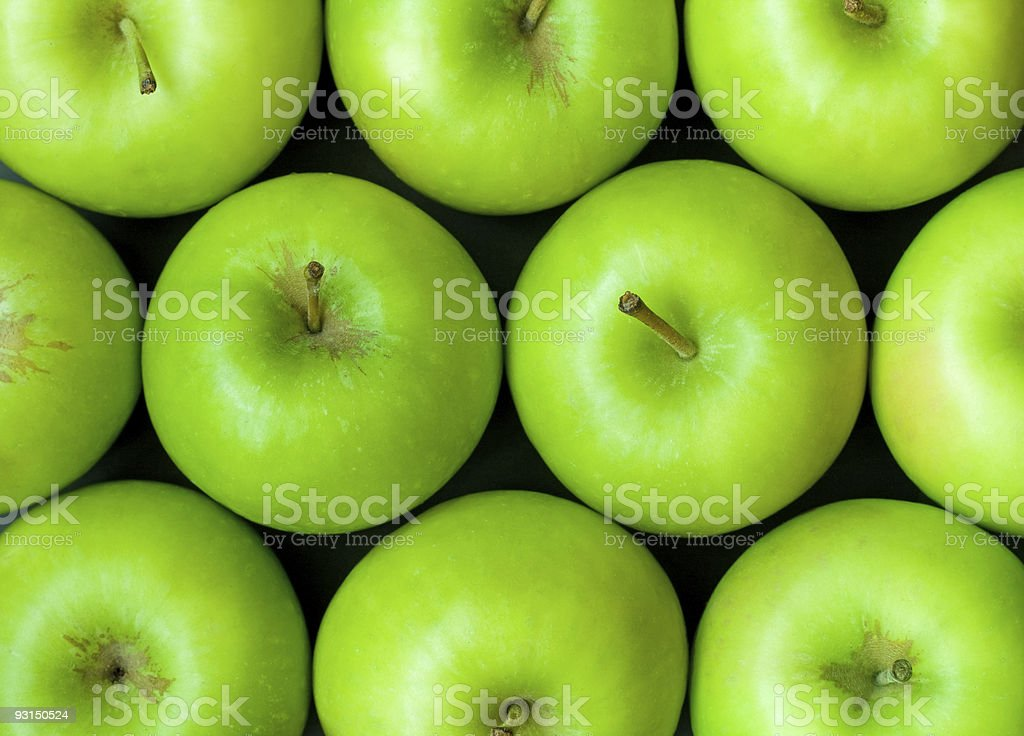Green apples background closeup royalty-free stock photo