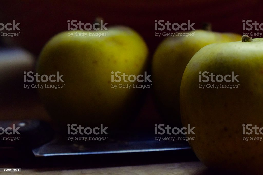 Green Apples / Granny Smith  in a Tray stock photo