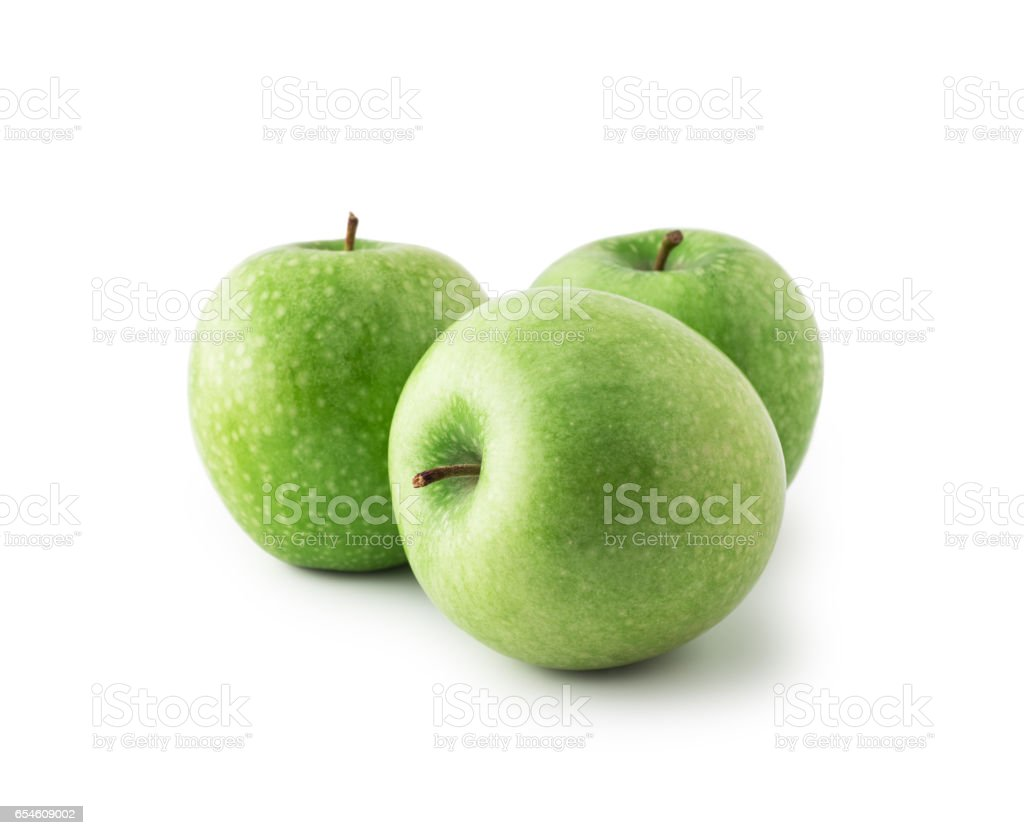 Green Apples , isolated stock photo