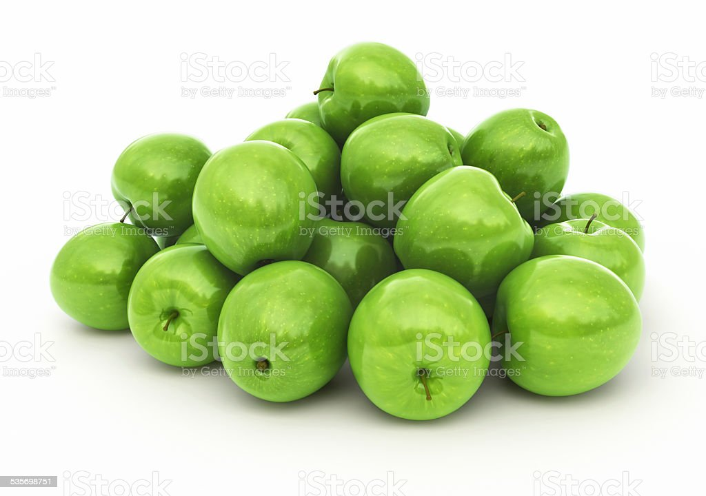 Green Apples-clipping path stock photo