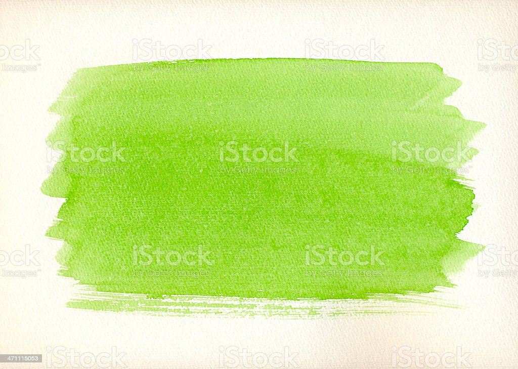 Green Aquarell Background royalty-free stock photo