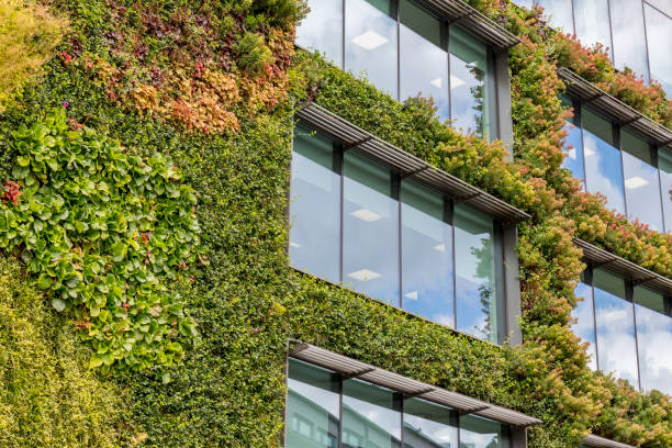 green architecture in camden london - responsible business stock photos and pictures