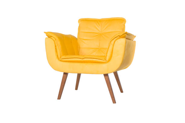 green armchair. modern designer chair on white background. texture chair. - chair stock pictures, royalty-free photos & images