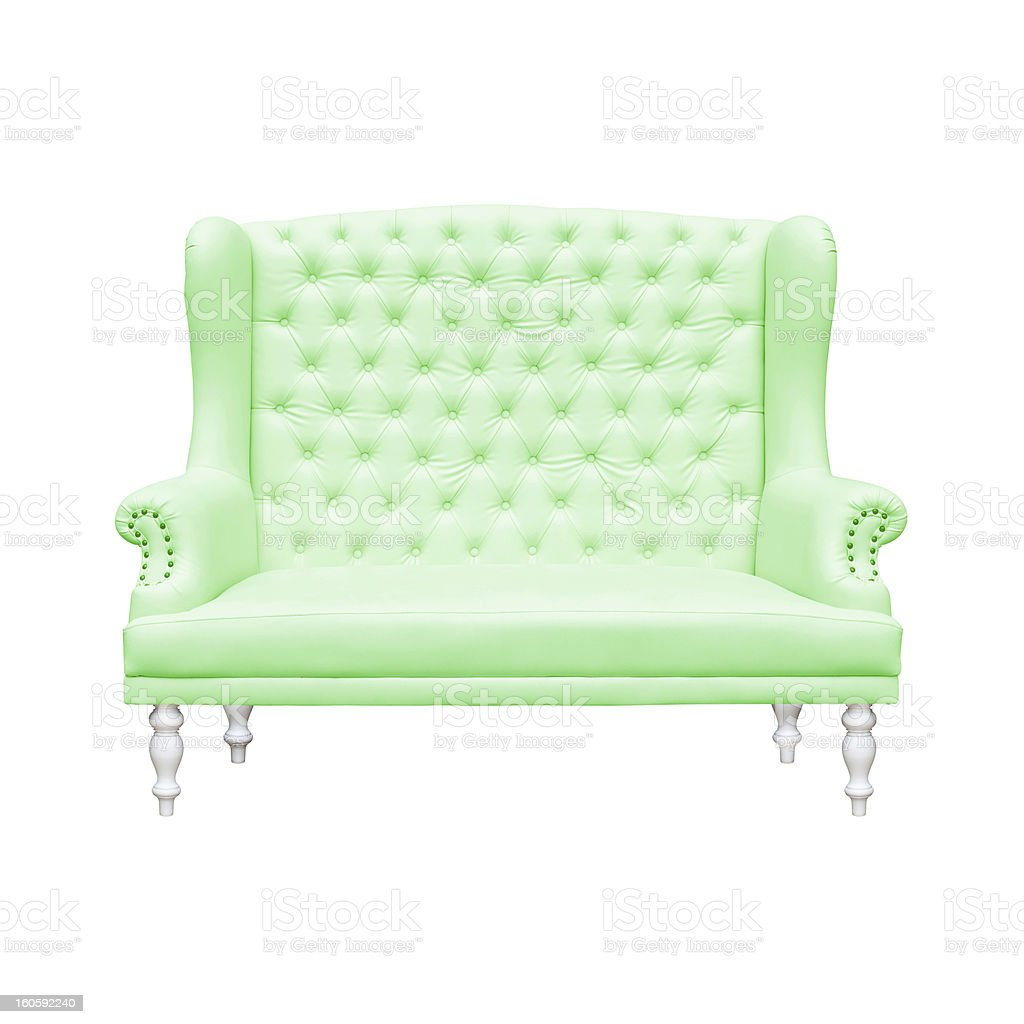 Green Armchair royalty-free stock photo