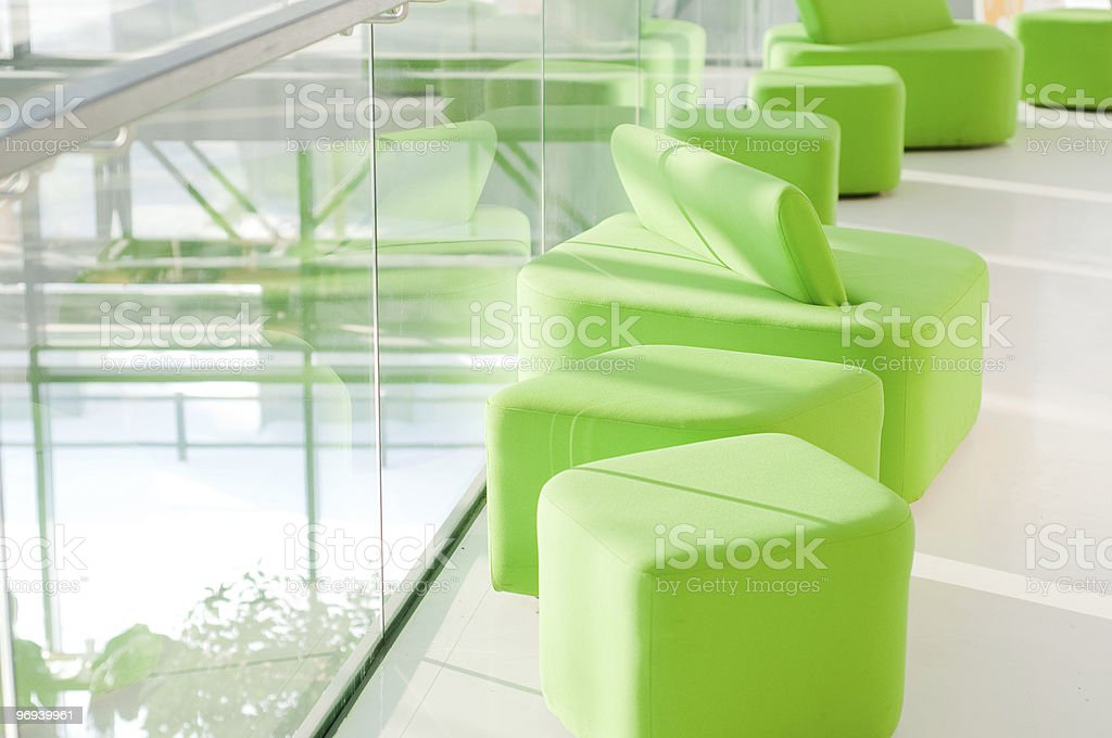 Green armchair royalty-free stock photo