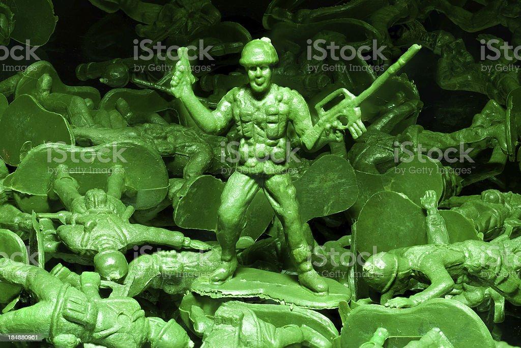 Green Army Man stock photo