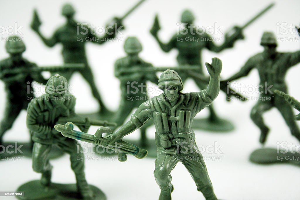 green army men royalty-free stock photo
