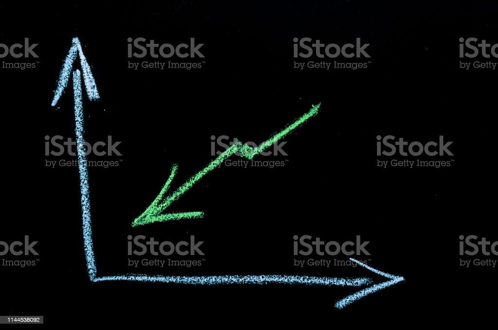 green arrow on chalkboard