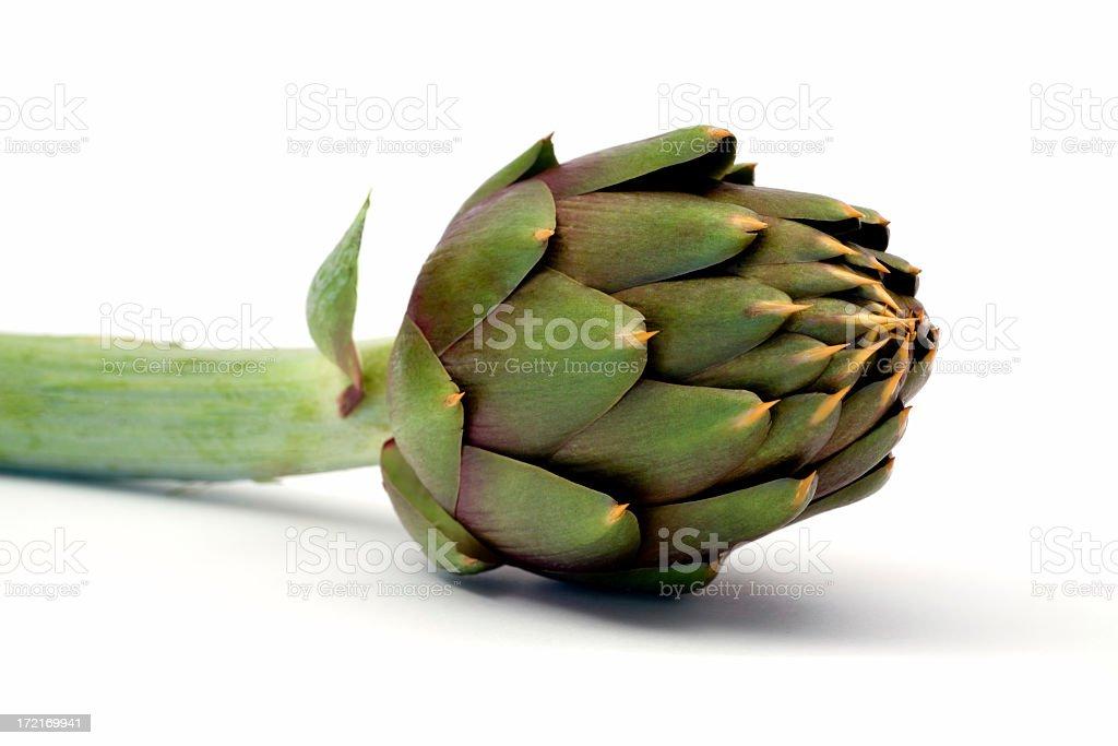 green artichoke detail royalty-free stock photo