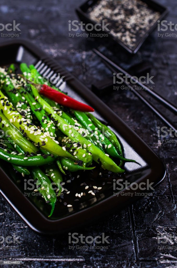 Green asparagus beans foto de stock royalty-free