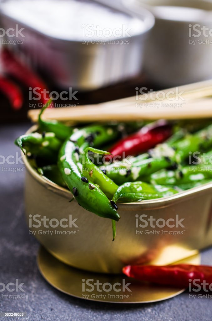 Green asparagus beans royalty-free stock photo