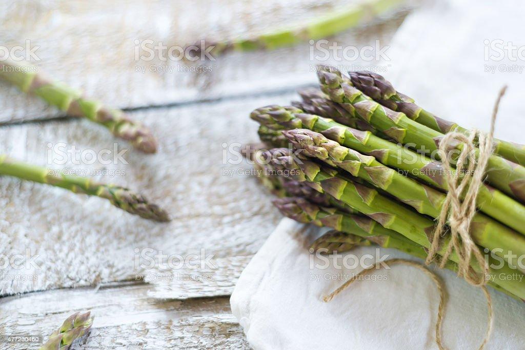 Green asparagus stock photo