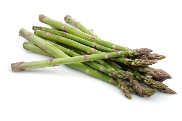 Green asparagus sticks stock photo