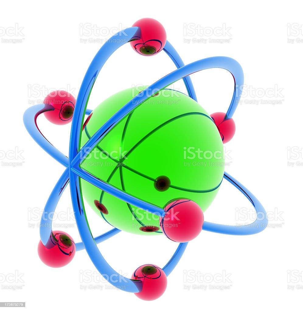 Green Atom royalty-free stock photo