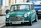 Green Austin Mini Cooper