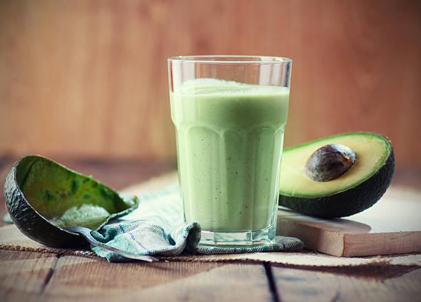 Green Avocado smoothie stock photo