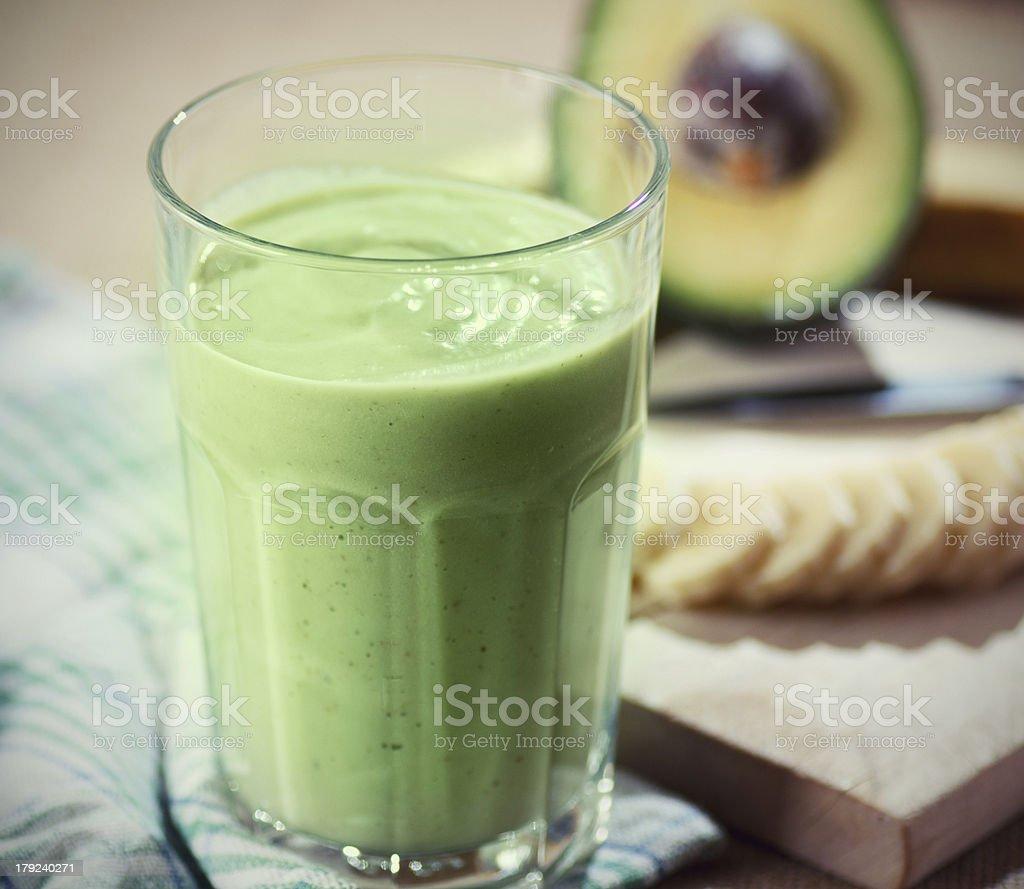 Green Avocado smoothie royalty-free stock photo