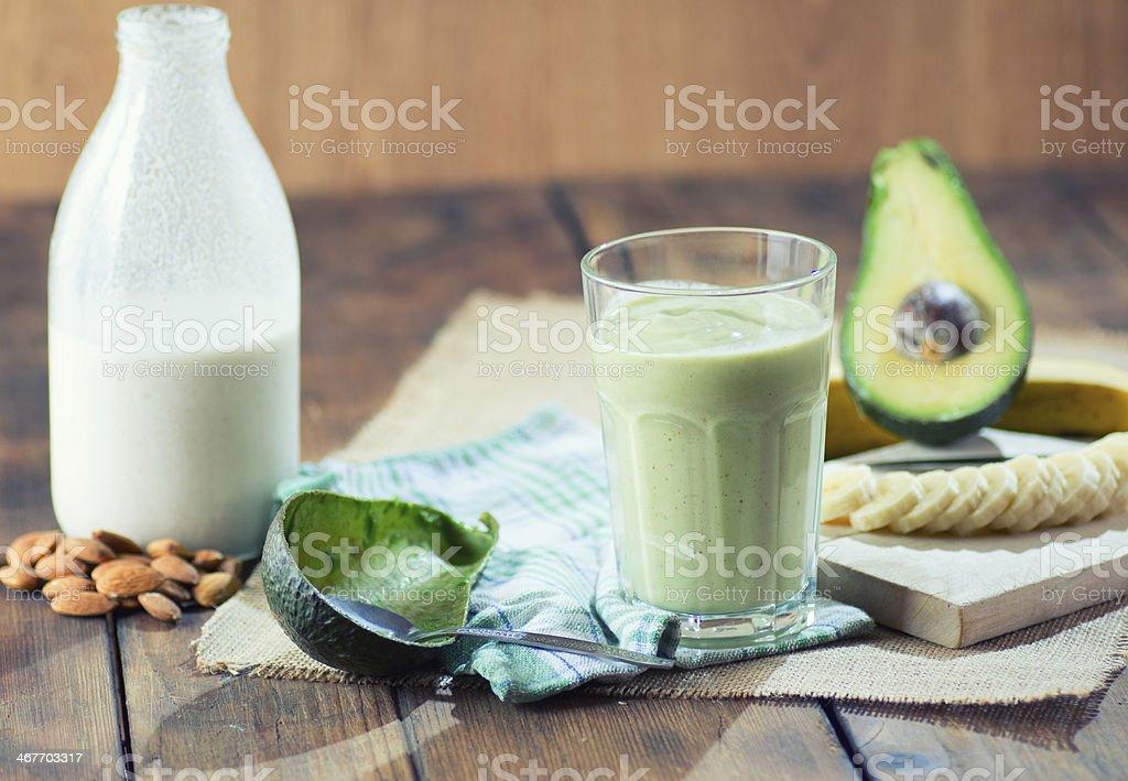 Verde aguacate batido foto de stock libre de derechos