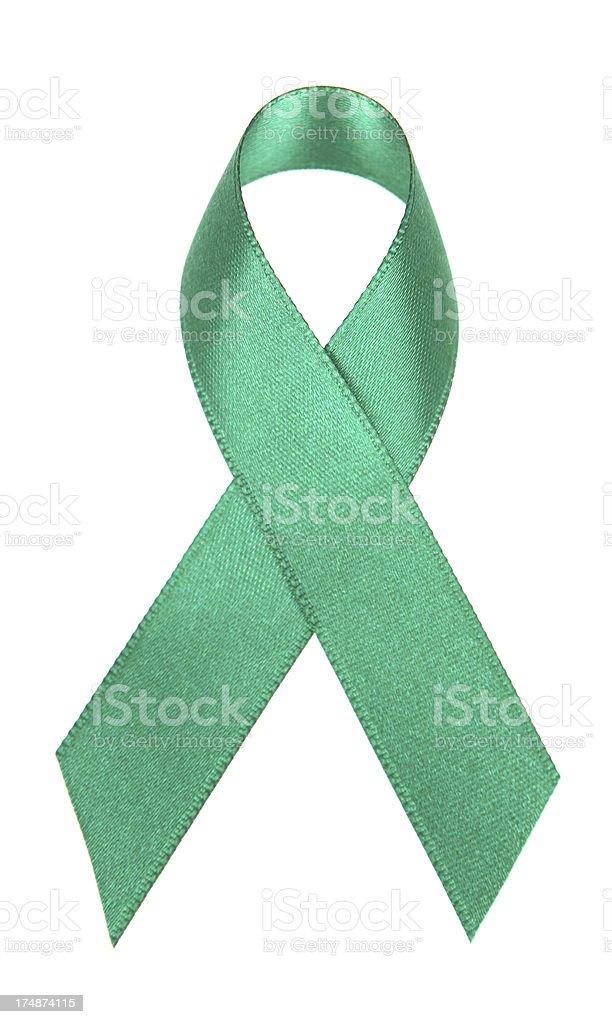 Green Awareness Ribbon stock photo