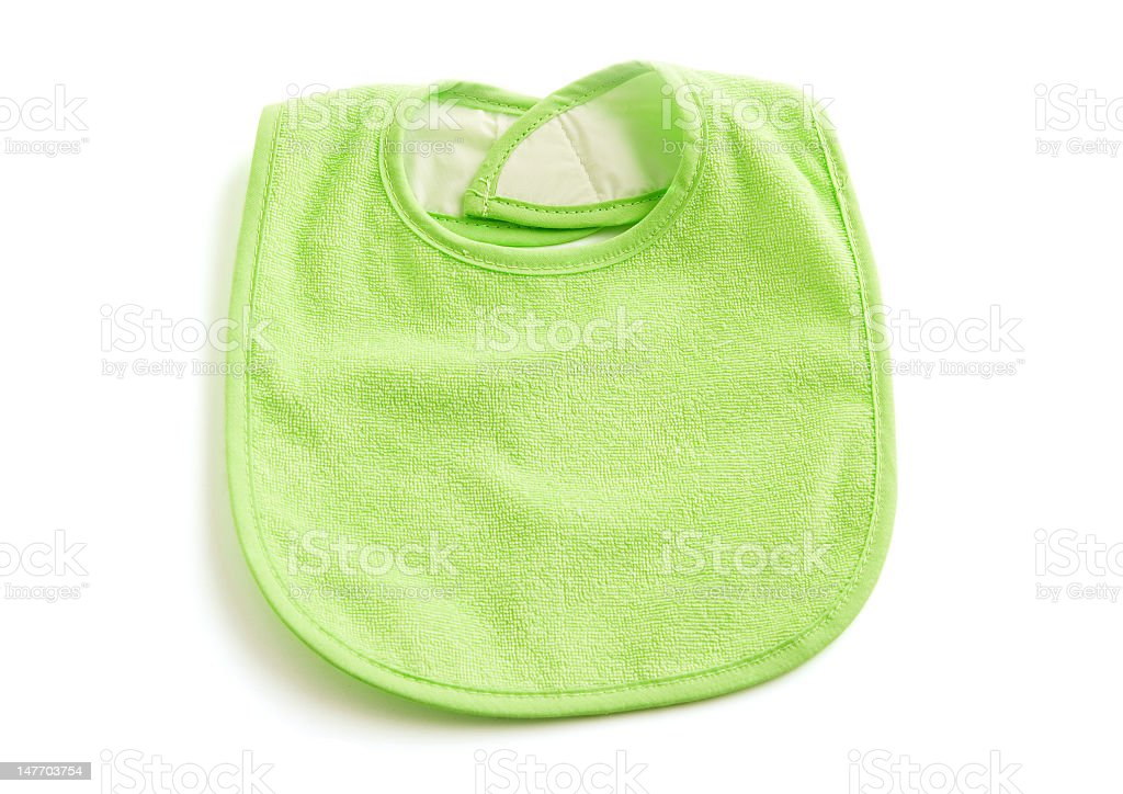 Green Baby Bib w/ path stock photo