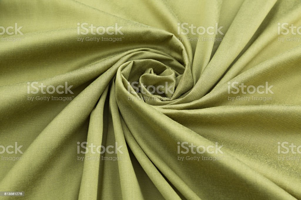 green background luxury cloth or wavy folds of grunge silk texture satin velvet stock photo
