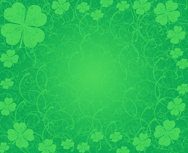 green background - luck of the irish stock photos and pictures