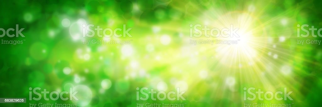 Green background with sun stock photo