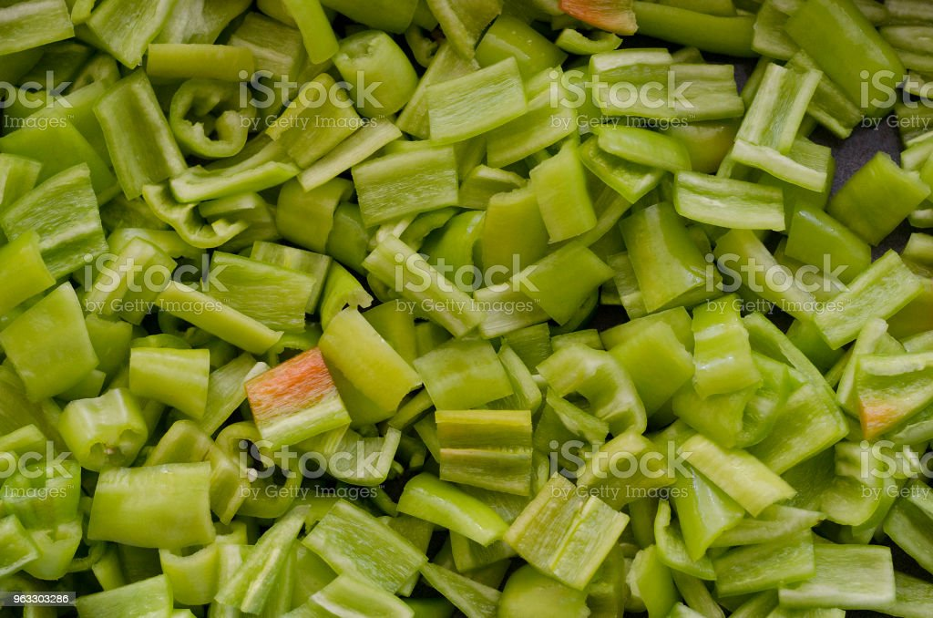 Green ball pepper slice for background stock photo