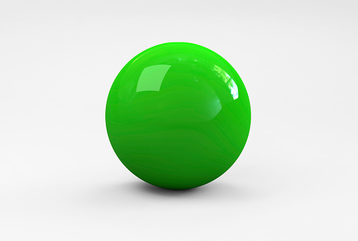 Shiny green ball on white background. Outline paths for easy outlining.Please see some similar pictures from my portfolio: